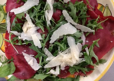 Bresaola, rucola and parmesan cheese