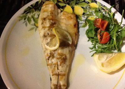 Fillet of Seabass grilled
