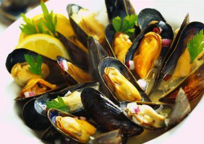 Souté of mussels
