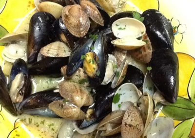 Souté of Mussels and Clams