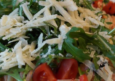 Mixed salad with parmesan